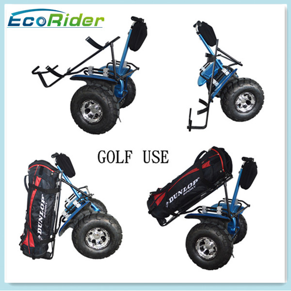 EcoRider two wheel self balancing off road segway golf scooter stand up electric golf scooter