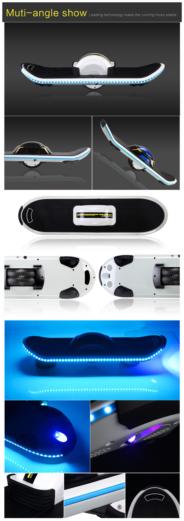 Smart Onewheel The Self - Balancing Electric Skateboard With Bluetooth Speaker