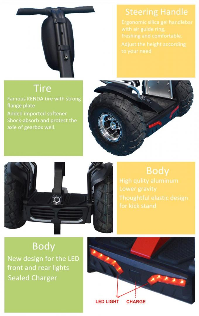 EcoRider Electric Self Balancing Scooters Two Wheels Double Battery 21 Inch Tire Size