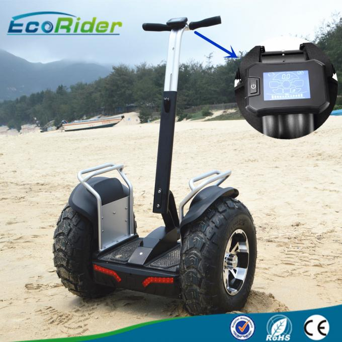 Rough Terrain Self Balancing Transporter , Two Wheel Balance Scooter Remote / APP Bluetooth