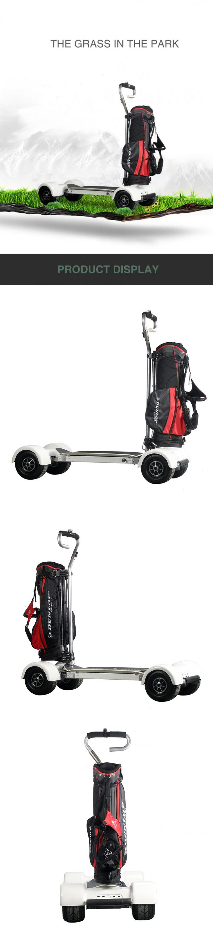 Golf 4 Wheel Skateboard Folding Electric Scooter 10.5 Inch Tire For Outdoor Tour