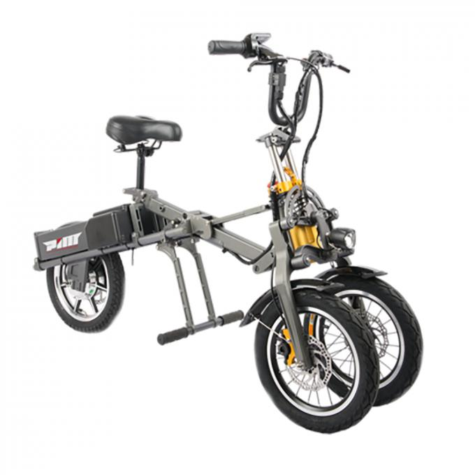 48v 250w Adult Folding Electric Bicycle Three Wheels Lithium 36v