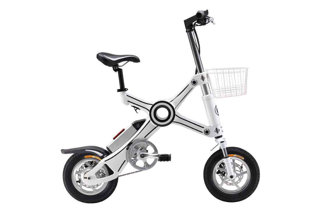 City Foldable Electric Scooter / Bicycle , 350 Watt Lightweight Folding Bike