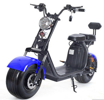 1500W Brushless Motor Electric Harley Scooter 60v 12ah Double Lithium Battery Choice