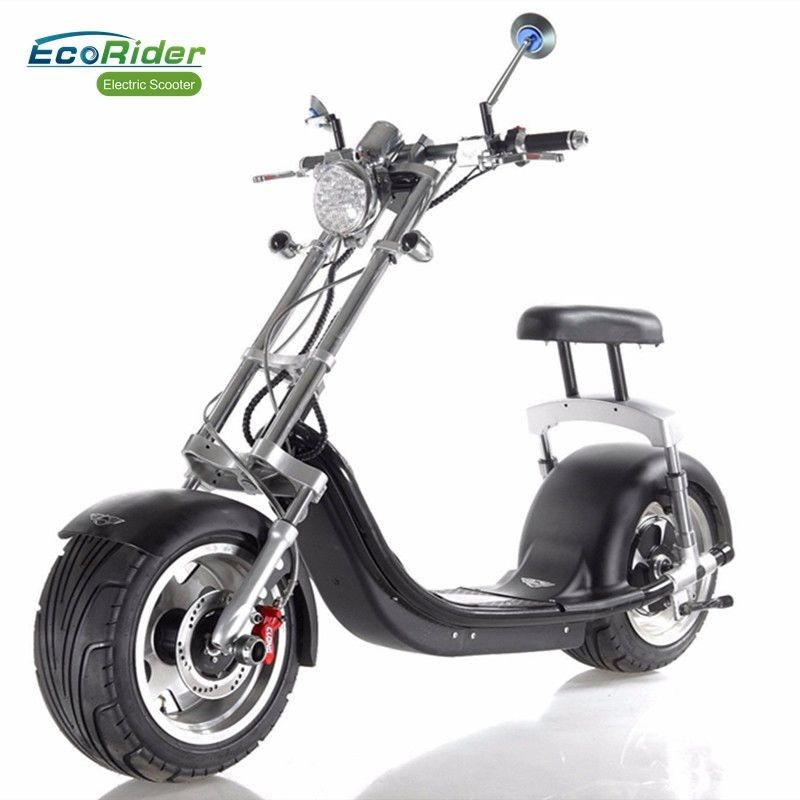 Off Road 2 Wheel Electric Scooter Fat For Eco Friendly