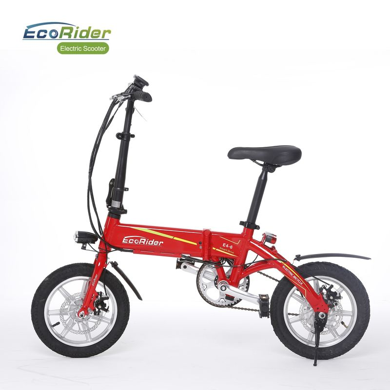 Foldable Electric Bike Lithium Battery 36V 14 Inch City Model Max Range 35Km
