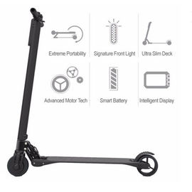 China Extremely Light Foldable Electric Scooter adults , Magnalium Alloy factory