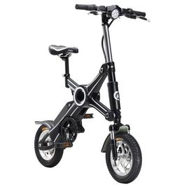 China 350 Watt Adult Foldable Electric Scooter / Bike Removable Battery 25KM Max Speed factory