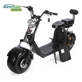 China Disc Brake 2 Wheel Electric Bike Adults Citycoco with Front / Rear Suspension Shock factory