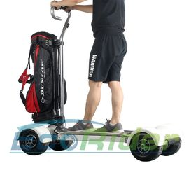 EcoRider Four Wheel Electric Golf Scooter Skateboard Cart with Ajustable Handle